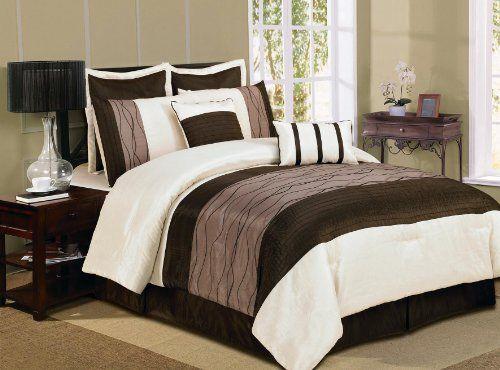 Luxury Home 8-Piece Florance Comforter Set King