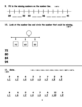 First Grade Common Core Summative Math Assessment  Common Cores