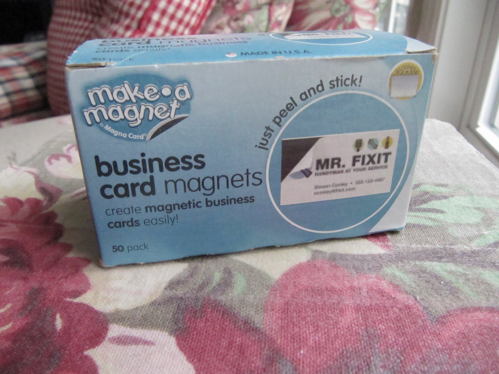 Sew Many Ways...: Tool Time Tuesday...Magnetic Business Card Ideas