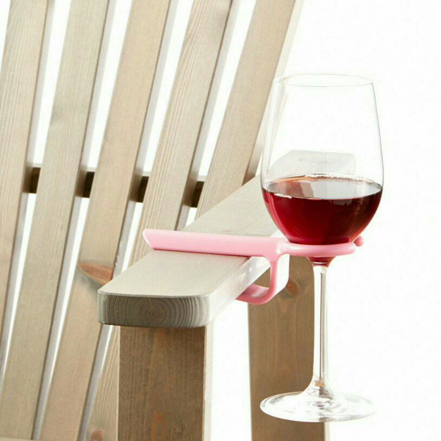Wine glass holder for an outdoor chair. Works on most Patio  Wine