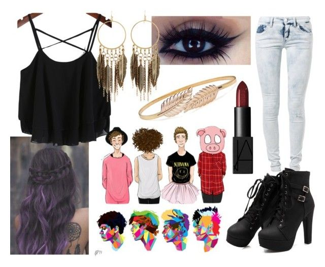 """""""5sos Concert"""" by mvfbff ❤ liked on Polyvore featuring We Are Replay, NARS Cosmetics and Panacea"""
