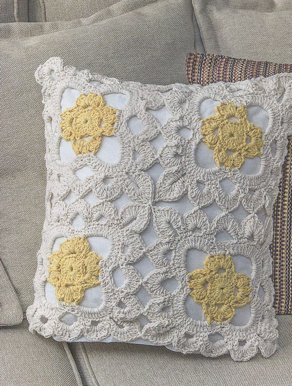 Receita Capa De Almofada Marguerite Croche Com Imagens Capas