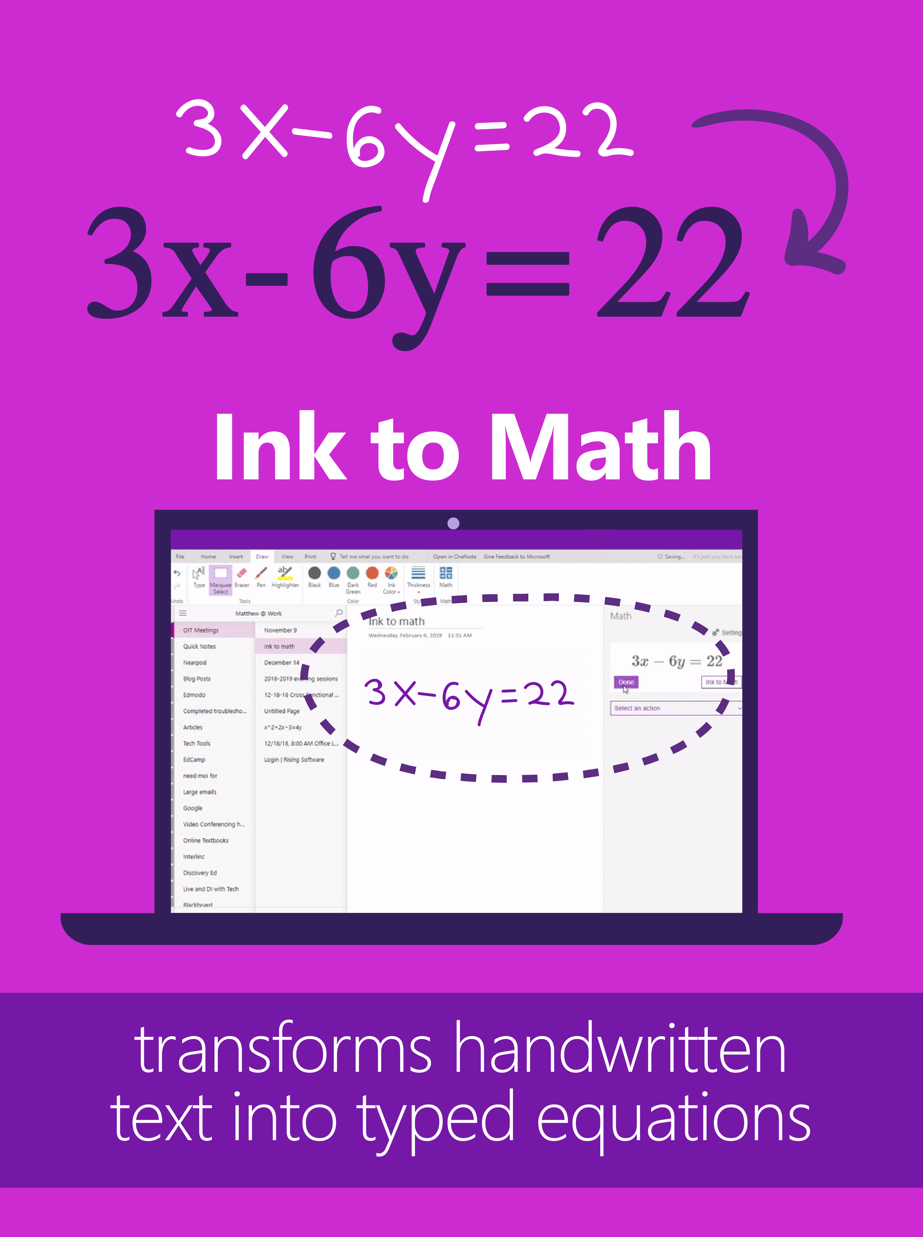 Stem Tip Convert Handwritten Notes Into Typed Equations