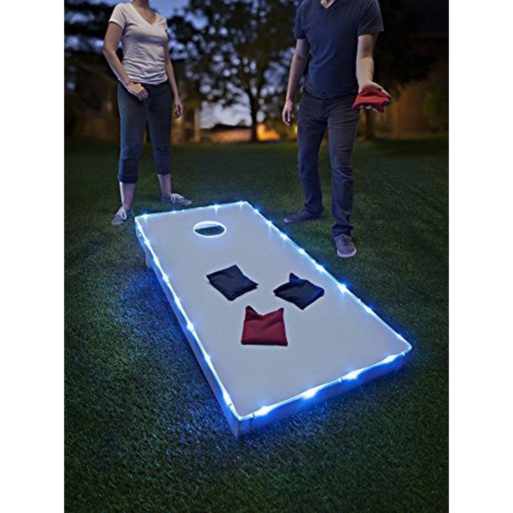 Brightz, Ltd. Blue Toss Brightz LED Lights Cornhole Board