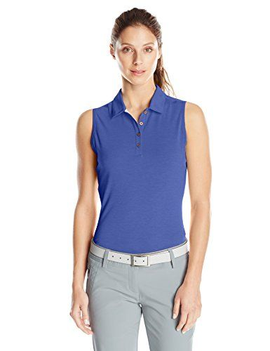afb87782b59 adidas Golf Women's Climalite Heather Sleeveless Polo -- For more  information, visit image link.