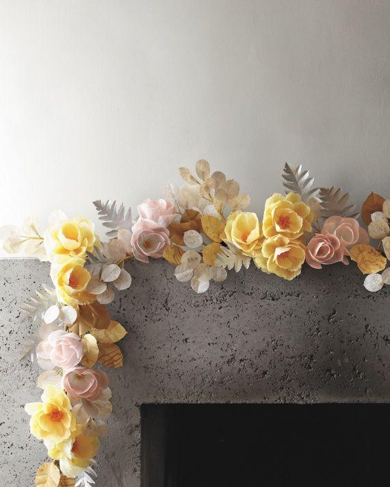 Diy Flower Garland: Paper Flower Garland