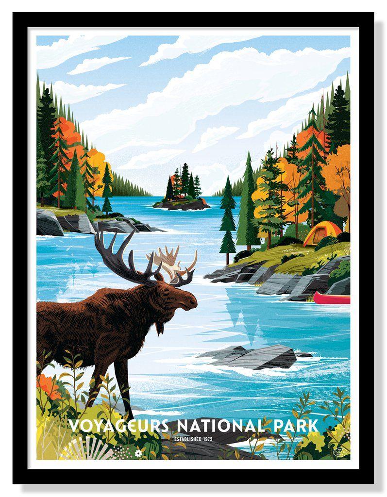 Alaskan Cabin in the Wilderness Picture Poster Landscape Art Framed Print