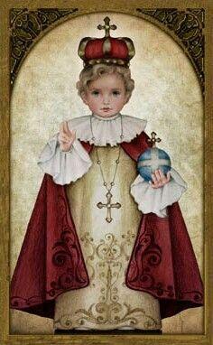 Infant Jesus of Prague. Feast May 3rd Art Portraits of Saints