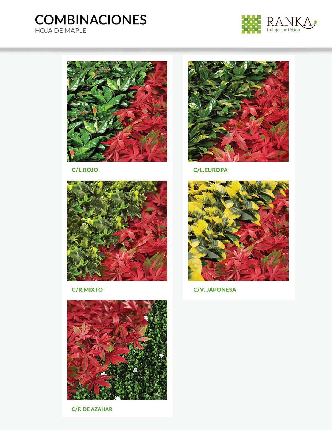 Catalogo ranka follaje artificial enredaderas - Plantas artificiales ...