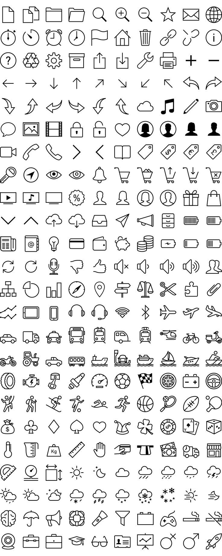 Free iOS 7 icons in vector by VisualPharm (source http
