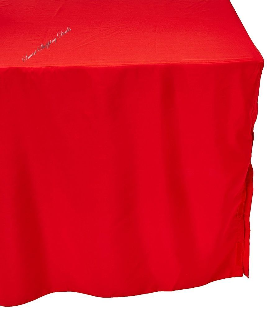 Red Tablecloth Rectangle 6 Ft Wedding Tablecloths Outdoor Table