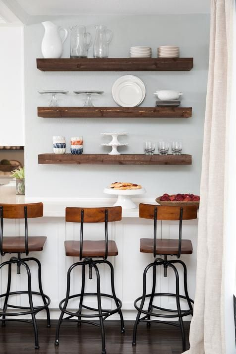 A fixer upper dilemma classic and traditional vs new and for Traditional kitchen shelves