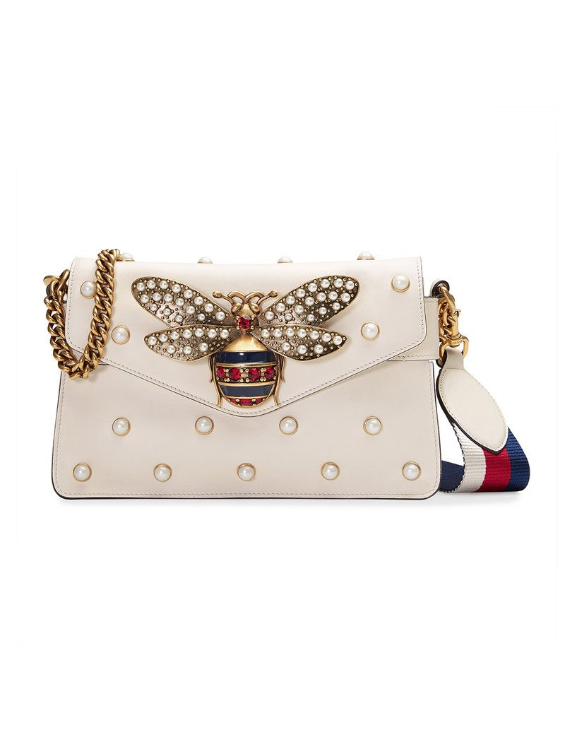 f4a40863c32f GUCCI GUCCI - BROADWAY LEATHER CLUTCH . #gucci #bags #stone #nylon #leather  #clutch #shoulder bags #crystal #lining #hand bags #silk #