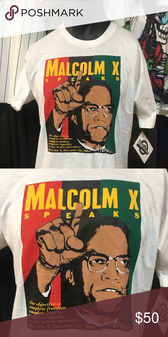Vintage Malcolm X Tee Classic Malcolm X T Shirt Dm Me For Purchase Tees Mens Tops Tee Shirts