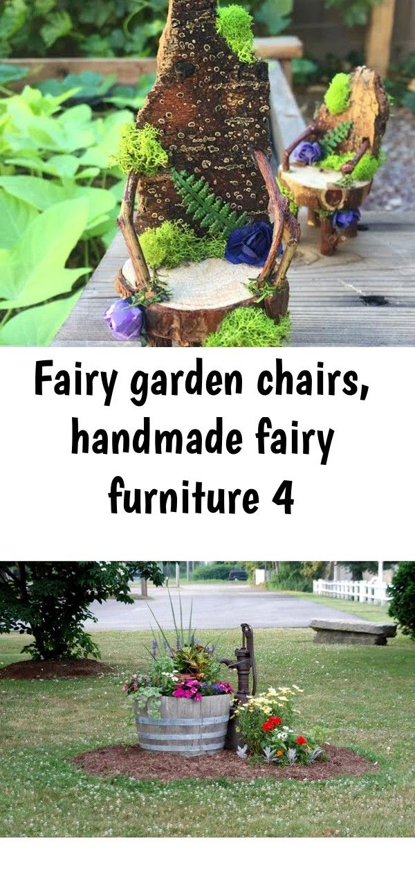 Fairy garden chairs handmade fairy furniture 4 Fairy garden chairs handmade fairy furniture  Etsy MGP Half 27 in W and 16 in H Oak Wine Barrel PlanterWBP26  The Home Depo...