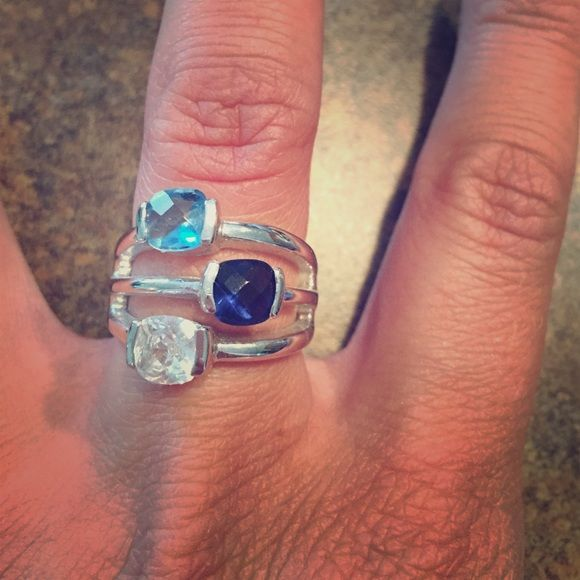 Lia Sophia Tri Color Ring Perfect for summer! Lia Sophia Tri Color Ring in size 7. Lia Sophia Jewelry Rings