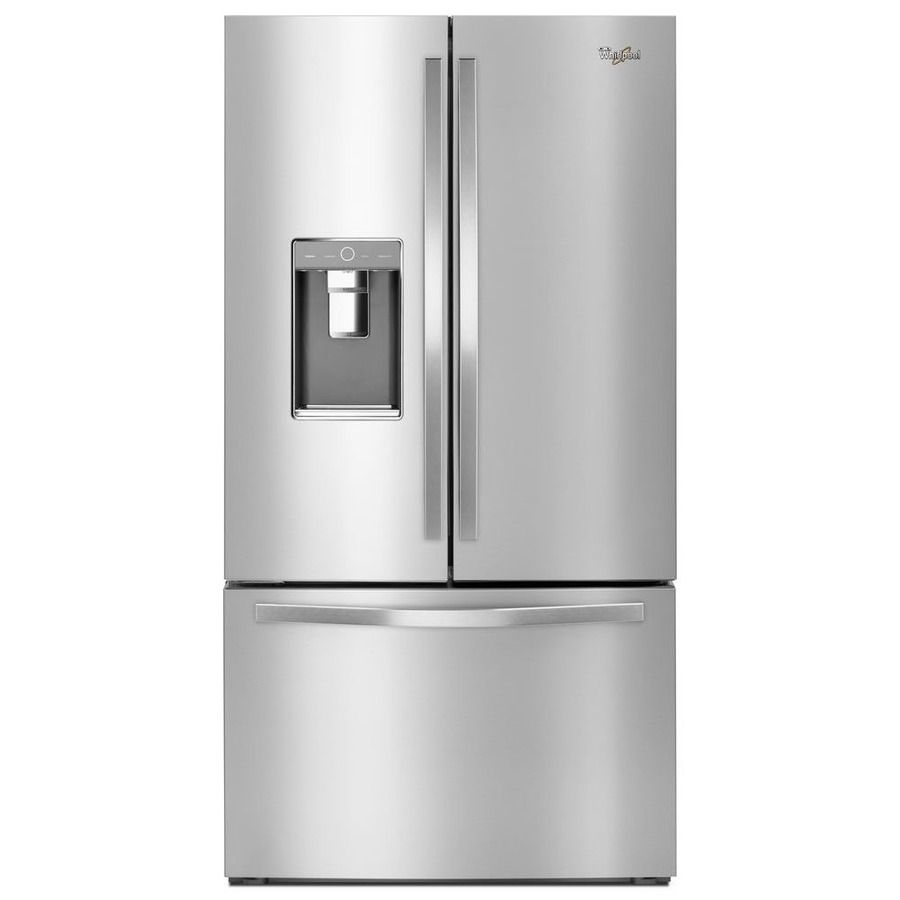 whirlpool ft dual ice monochromatic stainless french with makers youtube steel refrigerator cu maker watch door