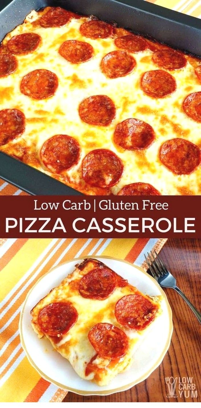 Low Carb Pizza Casserole   Keto Recipes images