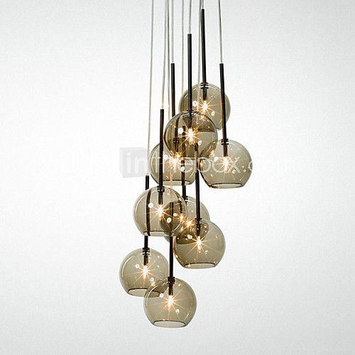 Qingming 8 Light Pendant Light Uplight Mini Style 110 120v 220 240v Bulb Included G9 15 20 2020 Us 337 92 Metal Pendant Light Pendant Lighting Vintage Pendant Lighting