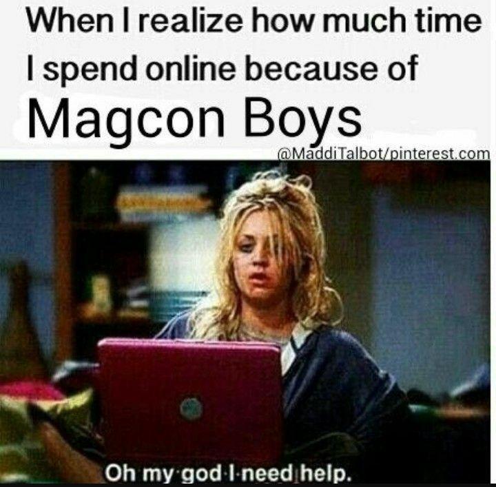 Cuando me doy cuenta de cuánto tiempo paso en internet por los magcon boys