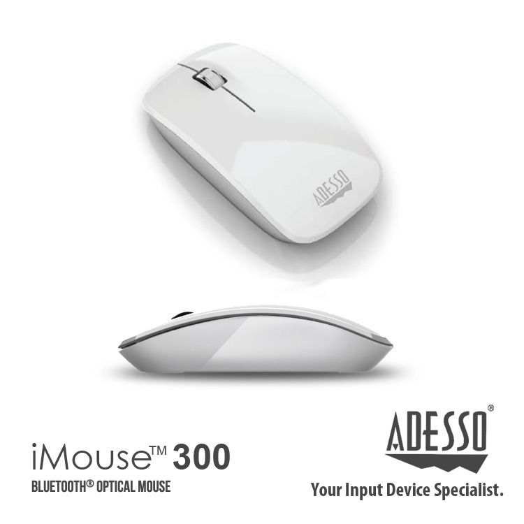 01c784af1ba Make an impression with the stylish Adesso iMouse M300, an input device  built with a modern look and has a reliable wireless range (that extends up  to 30 ...