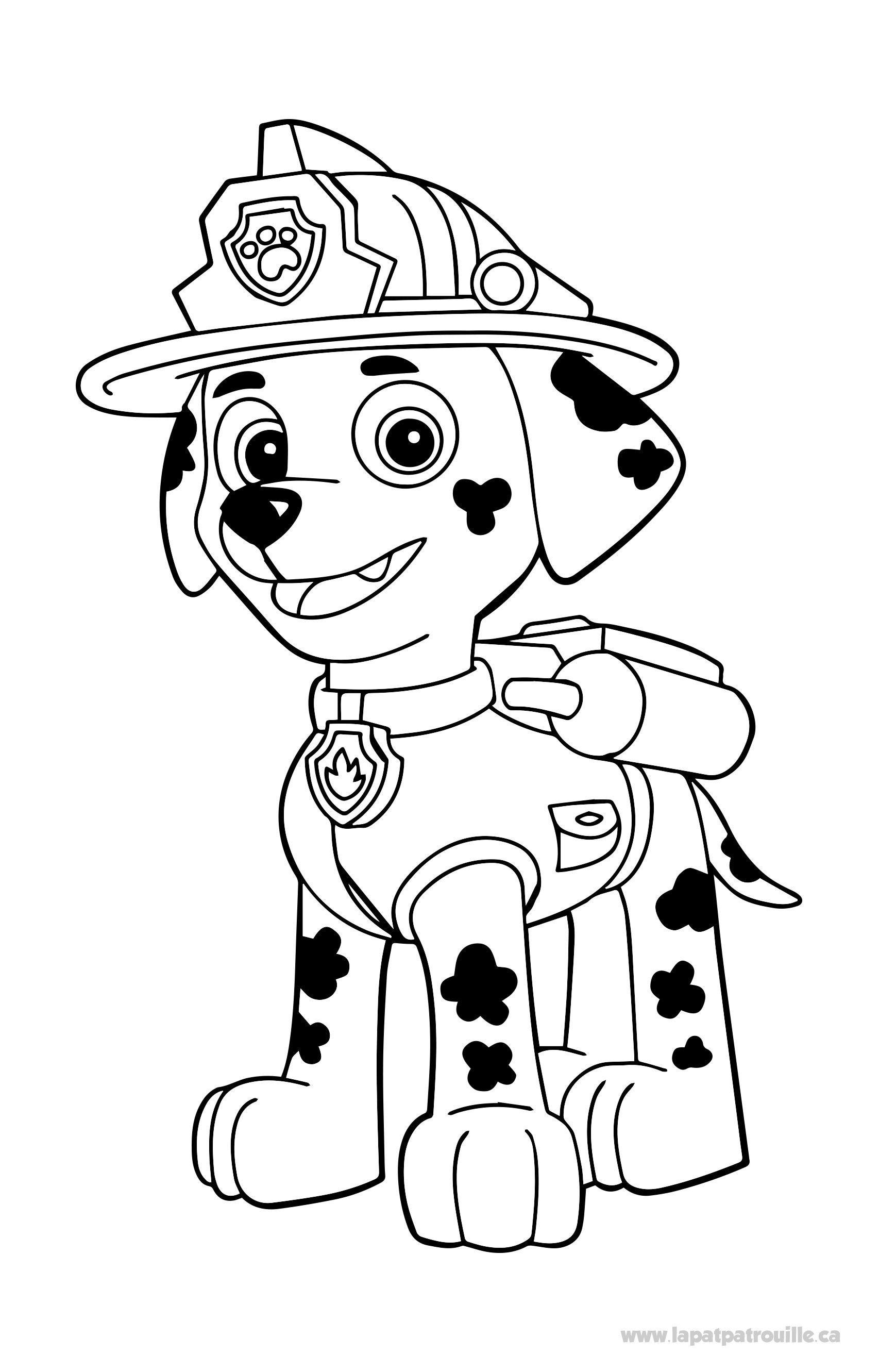 Pat Patrouille Marcus Coloriage Buku Mewarnai Anjing