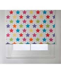 colourmatch kidsu0027 star blackout roller blind 120 x