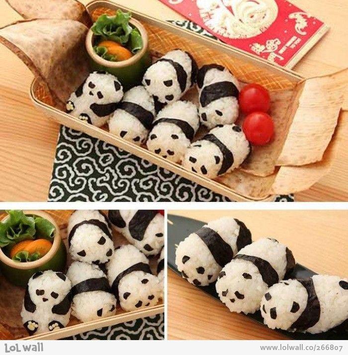 Pin by Susan Bezek on A Great Idea!   Panda sushi. Food art. Bento recipes