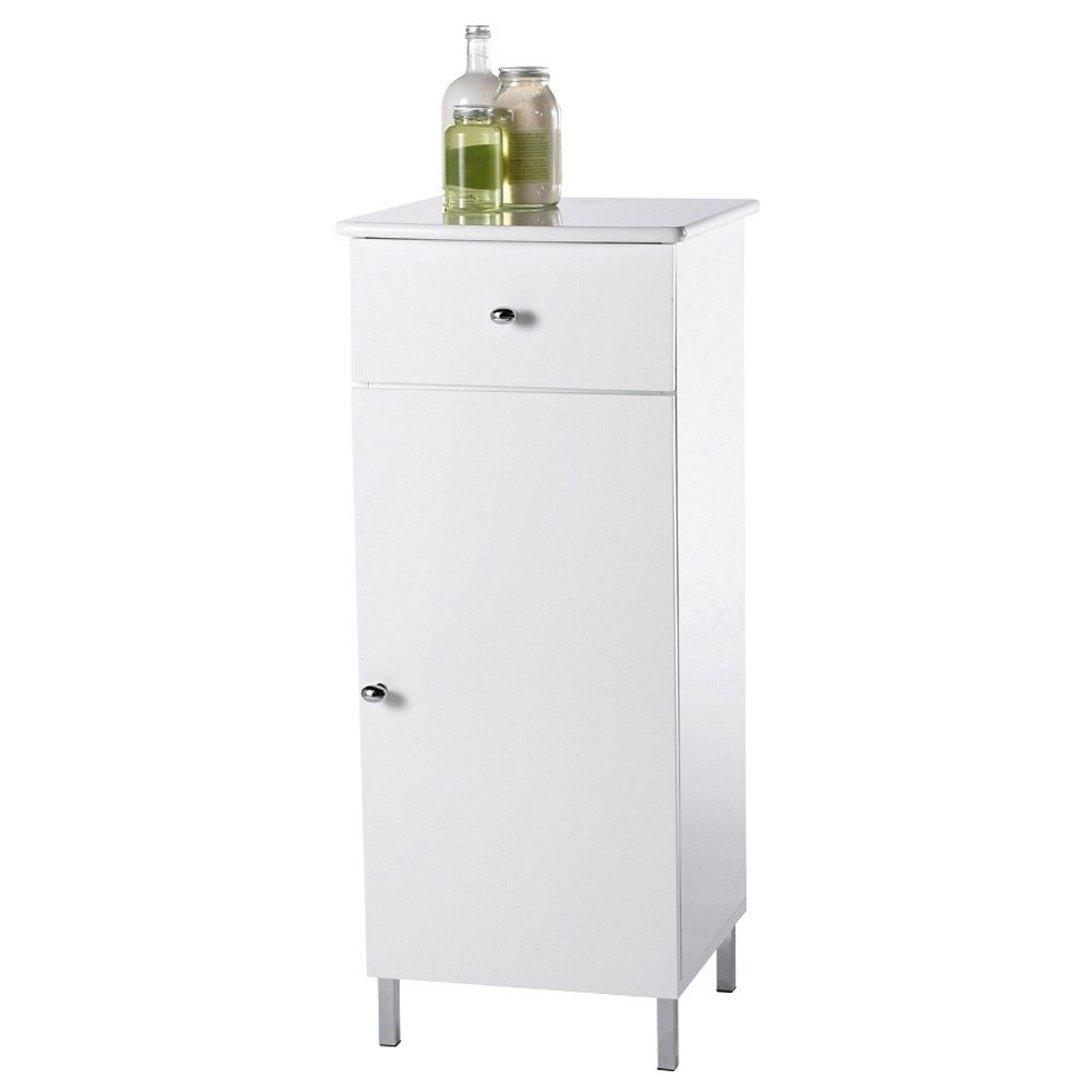 White Free Standing Bathroom Cabinet Showerdrape Capri A Which Features Mdf Finish