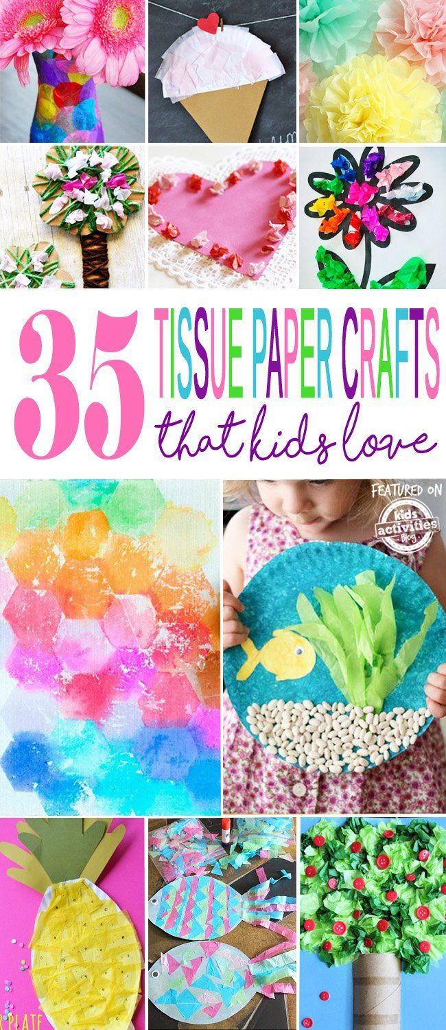 35+ {adorable} tissue paper crafts | kid crafts | pinterest | paper