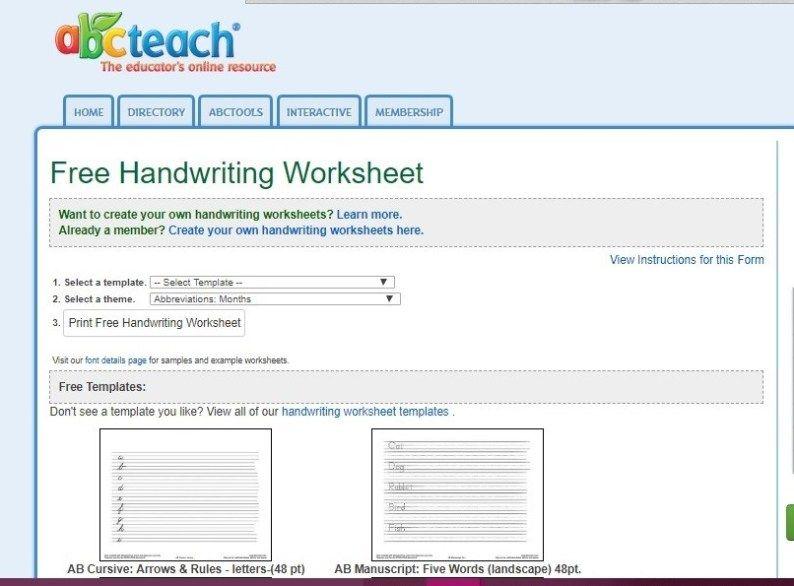 6 Best {FREE} Handwriting Worksheet Websites! – Life with ...