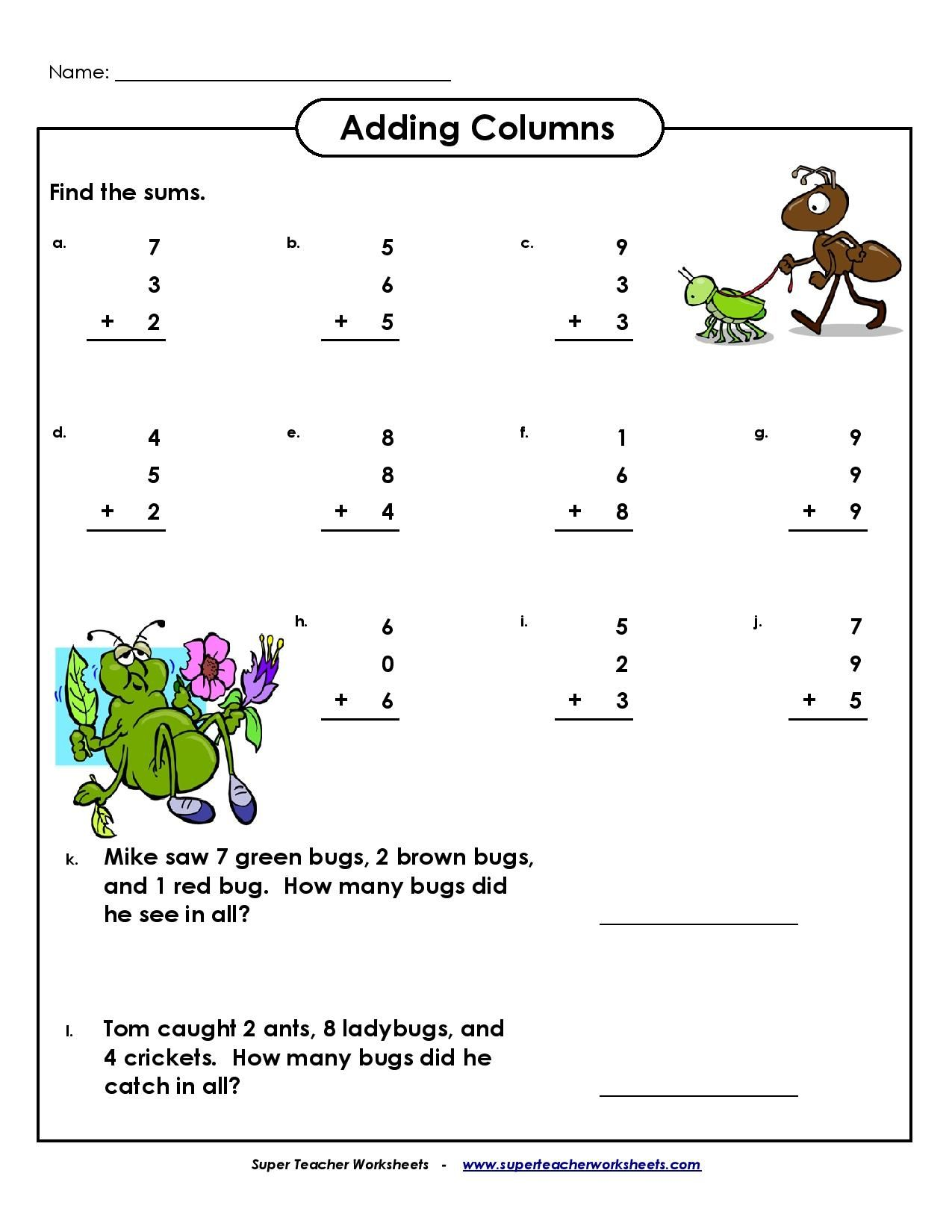 Best 15 Addition Worksheets