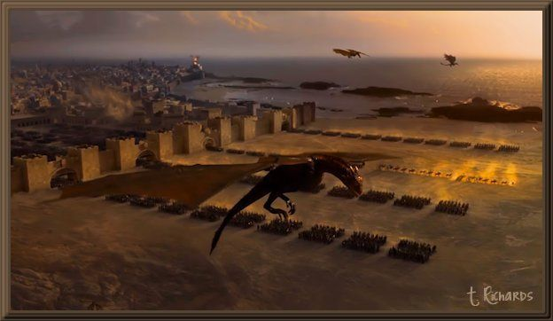 Daenerys Her Unsullied And Her Dragons S3 E4 Game Of Thrones Dragons Game Of Thrones Wiki Throne