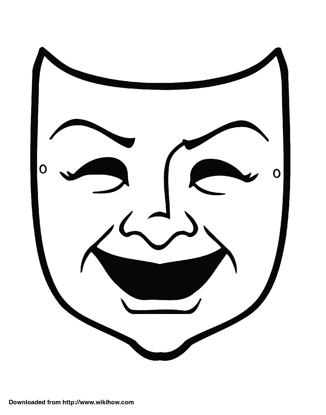 Sample Comedy Mask Wikihow In 2021 Theatre Masks Drama Masks Greek Drama Masks