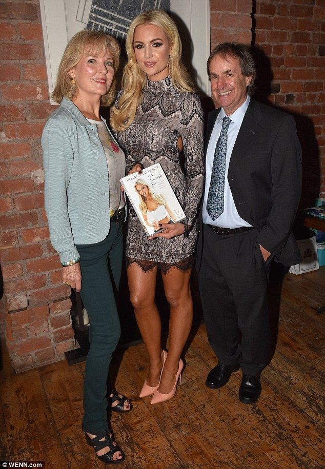 Rosanna davison stuns in thigh skimming lace dress book launch and lady in grey the former miss world was joined by her supportive parents chris thecheapjerseys Images