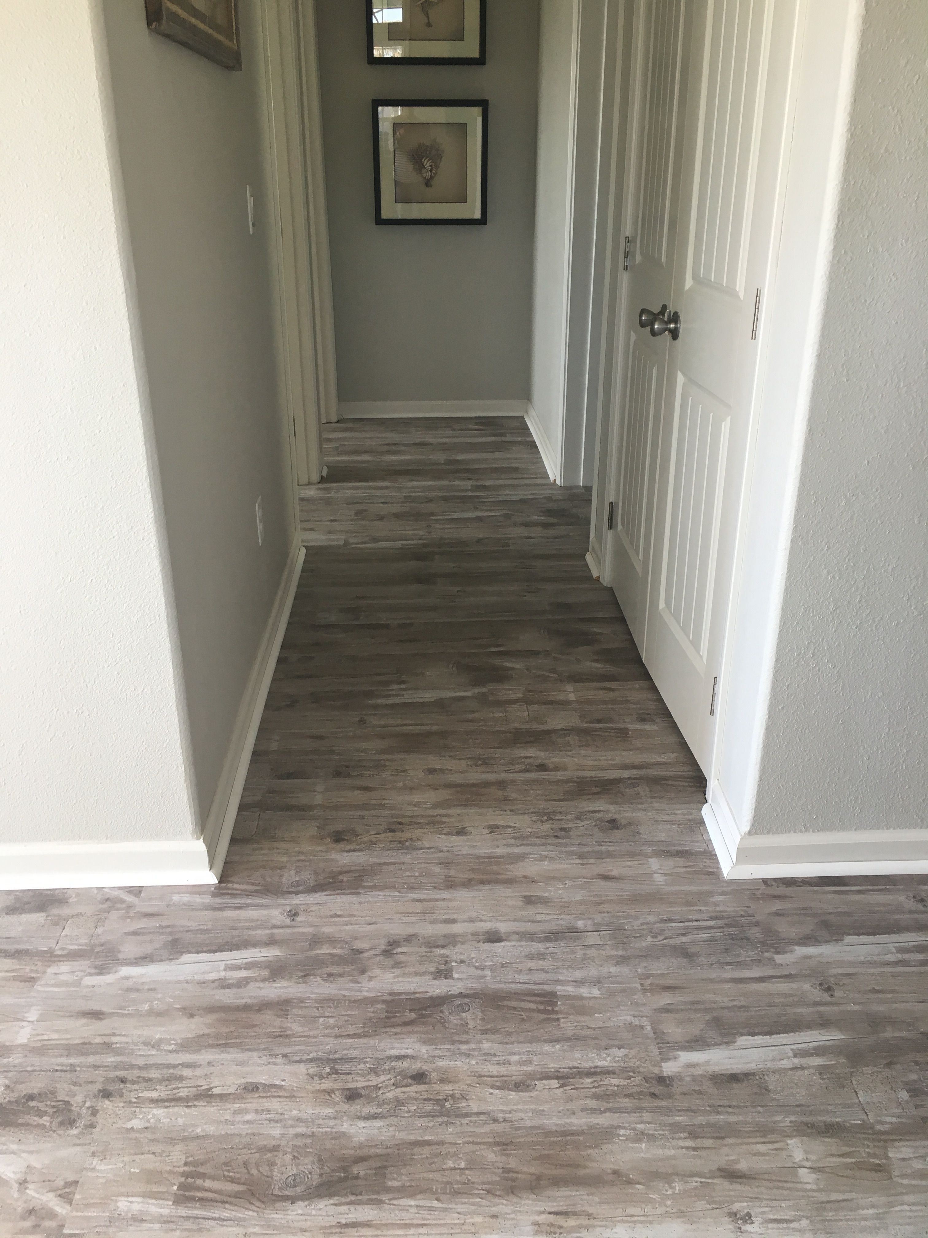 Luxury Vinyl Tile - installed this waterproof flooring in our