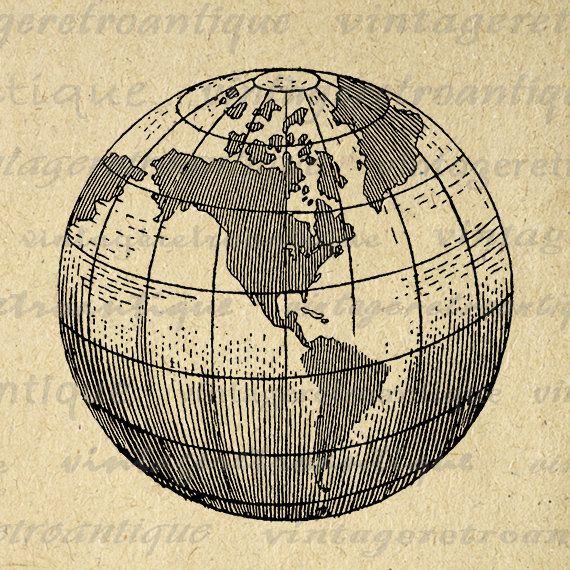 Printable earth globe clipart world map digital image graphic planet printable earth globe clipart world map digital image graphic gumiabroncs Choice Image