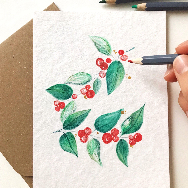 Weihnachtskarten Selber Machen Weihnachtsgrusse Aquarellkarten