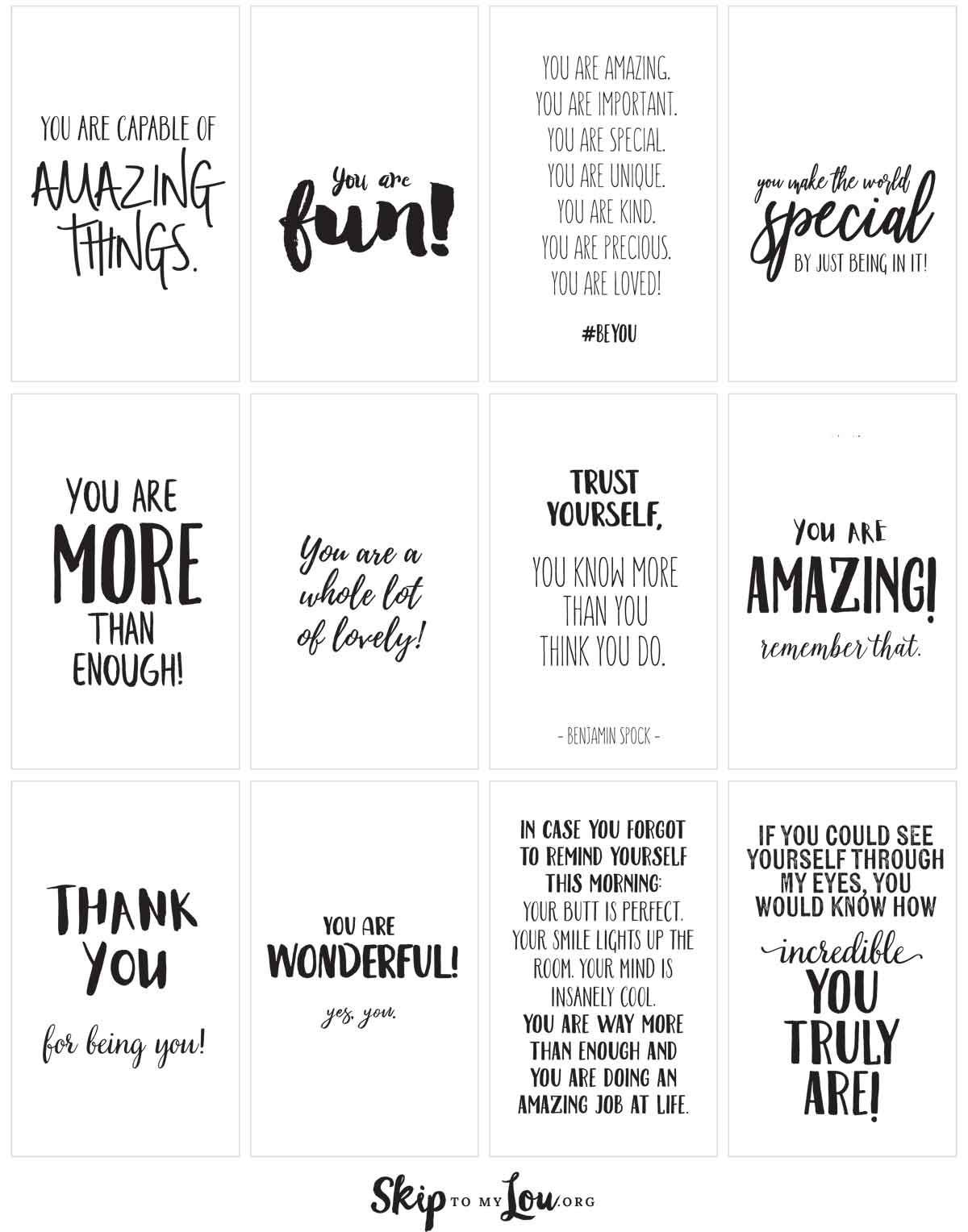 Positive Affirmations Print And Share With Friends