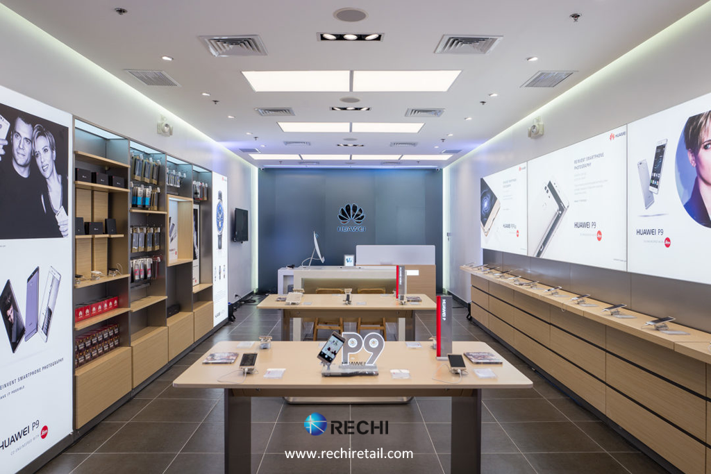 Huawei 3 0 Experience Store | RECHI Retail Merchandising Security