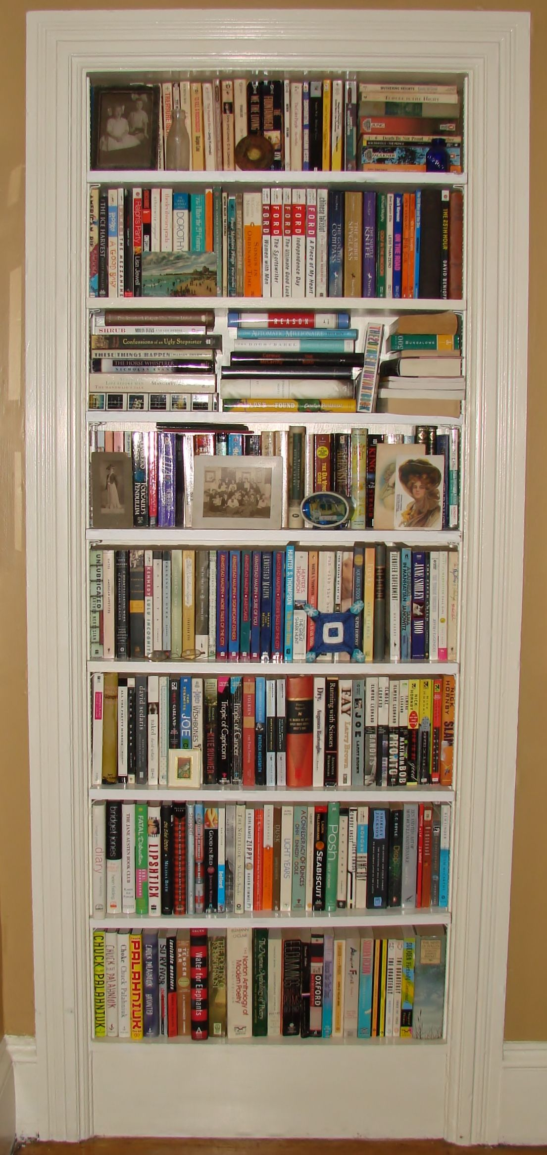 Unused Doorway Enclosed And Converted To Bookshelf
