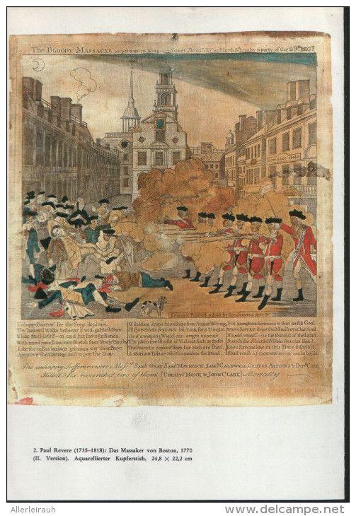 Paul Revere : Das Massaker von Boston - Druck , entnommen aus  Westermanns…