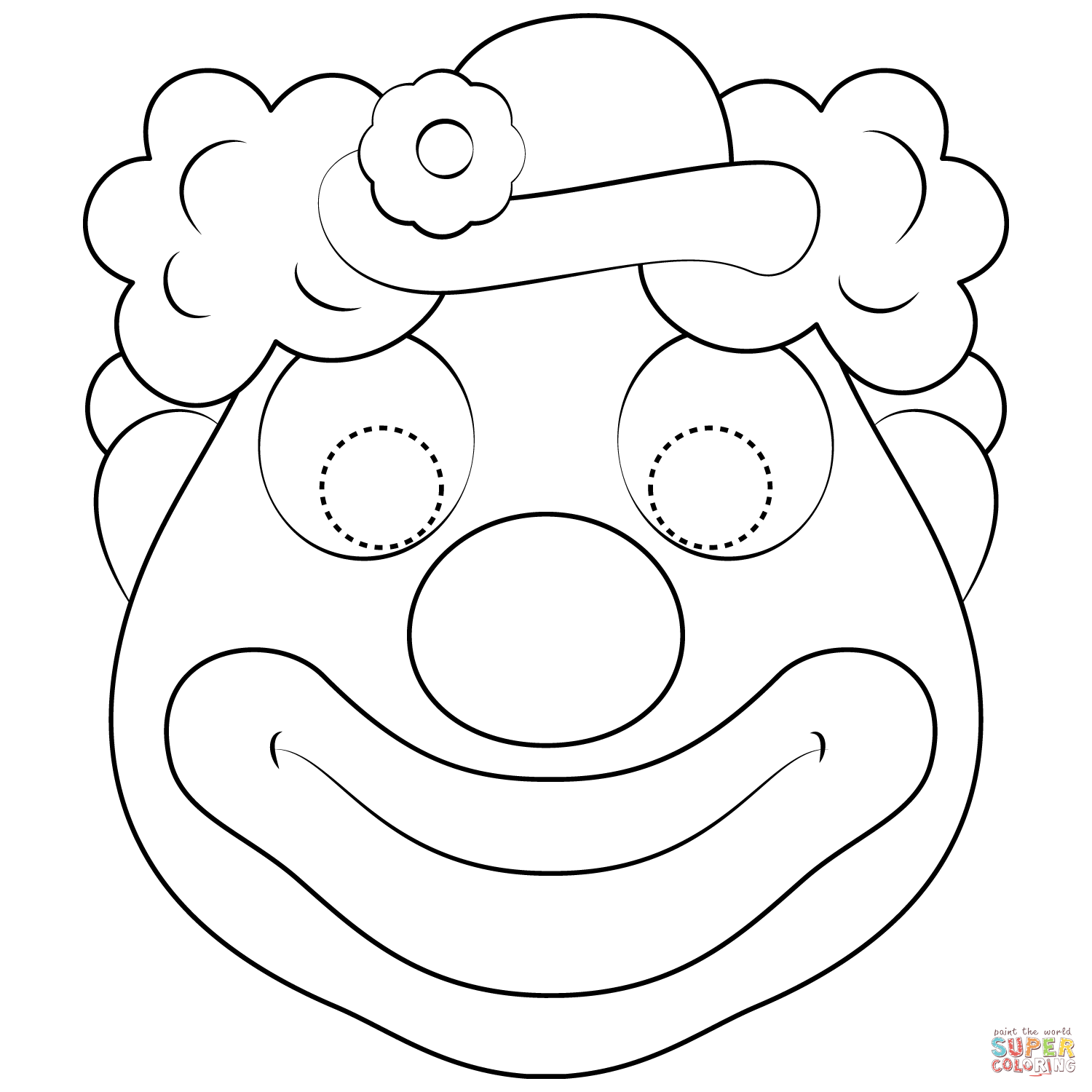 Clown Mask Coloring Page Free Printable Coloring Pages Printable Coloring Masks Coloring Mask Printable Coloring Pages