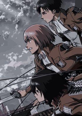 Metal Poster Attack On Titan Anime