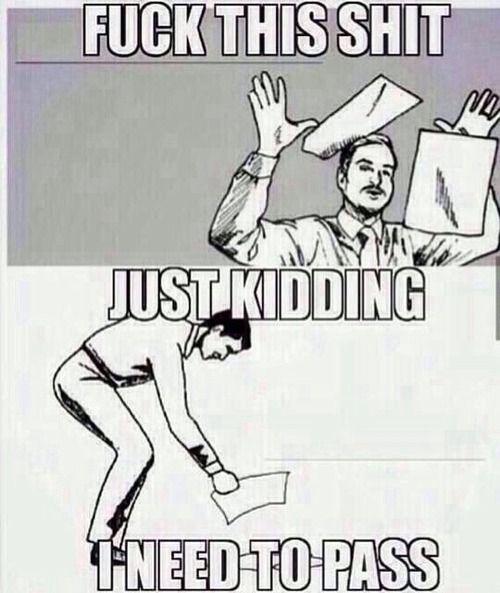 Exam Stress Tumblronly Half Way Through Semester Funny