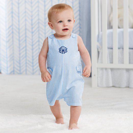 f063b3a7d Amazon.com  Mud Pie Baby Boy Seersucker Shortall (12-18 Months ...