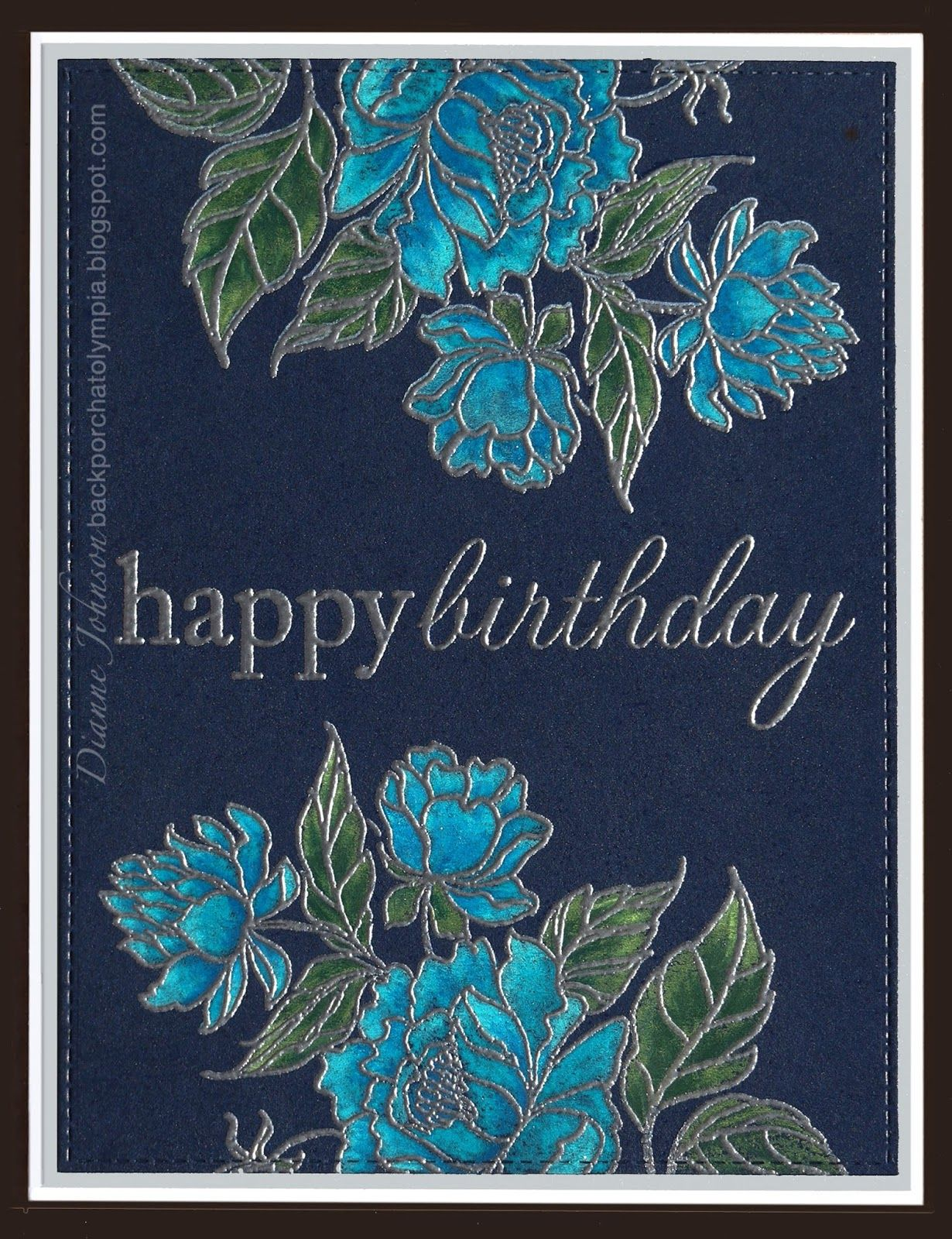 Color then emboss backporch easy stamping for multiple cards