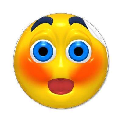 Smiley blushing blushing