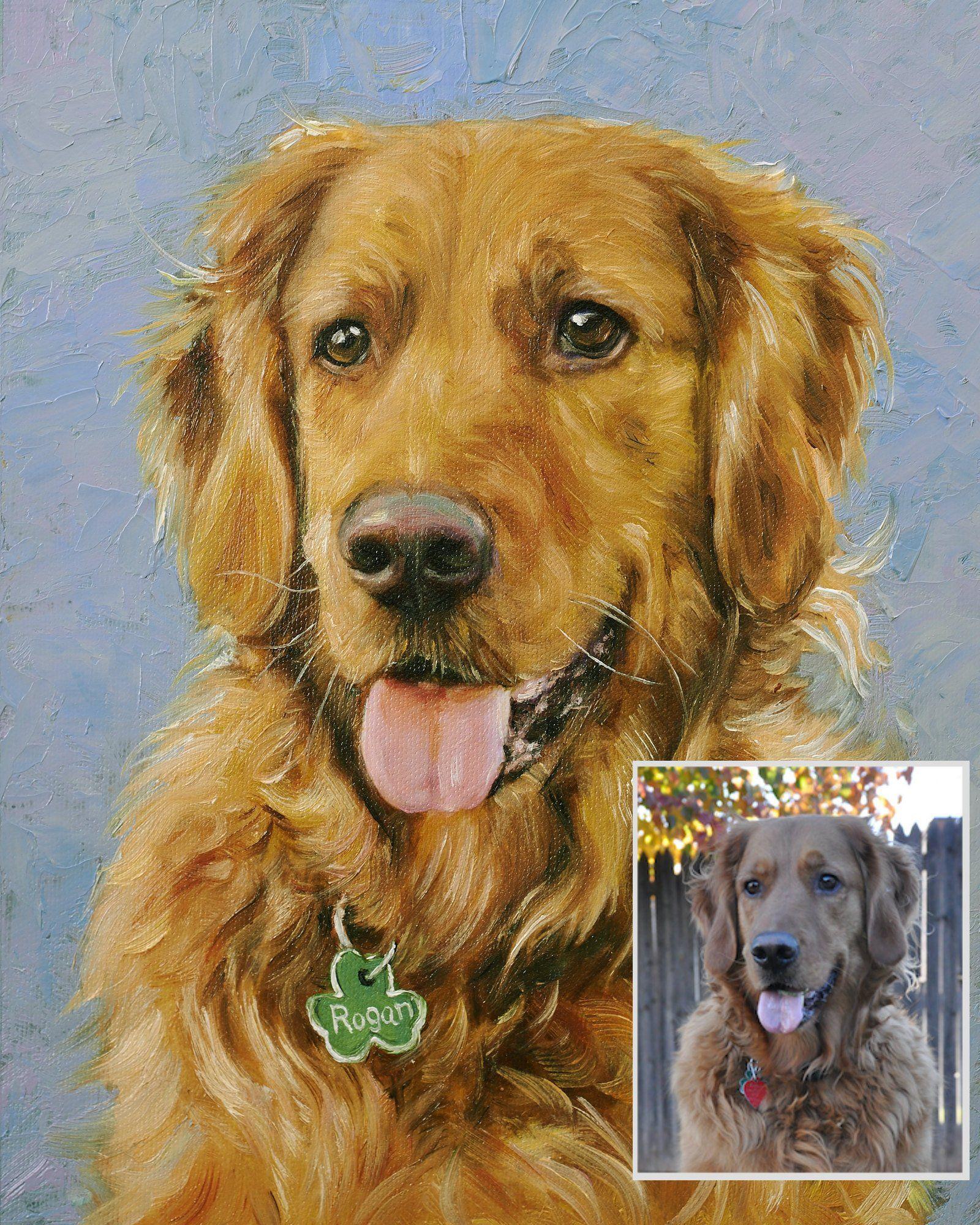 Custom Dog Portrait, Cat Portrait, Oil Painting, Custom