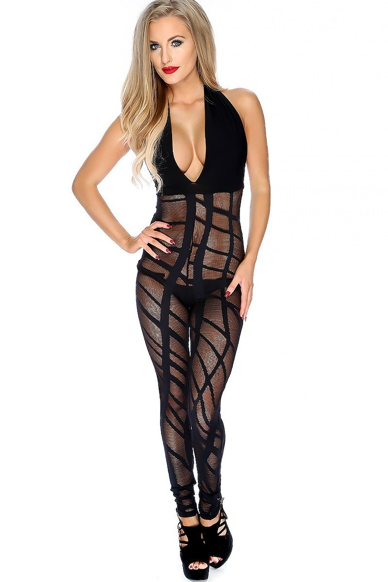 b9976feaf0c Wear this sexy jumpsuit for a girls night out to the club! Features a halter